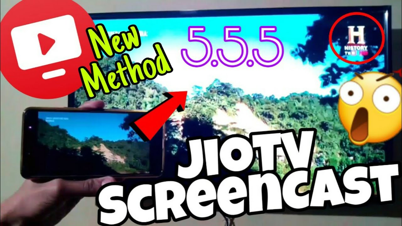 JioTV Screen Casting || Mirror JioTV 5 5 5 on your T V easily ||° Without  Root° || Latest Method