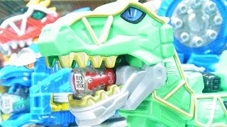 よみがえるPower Rangers Dino Super Charge - Limited Edition Dino Charge Megazord  カミツキ合体 キョウリュウジン thumbnail