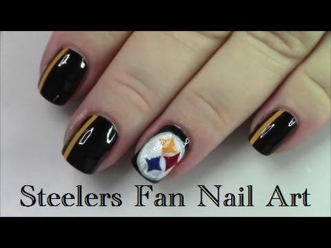 Pittsburgh Steelers Fan Nail Art Tutorial