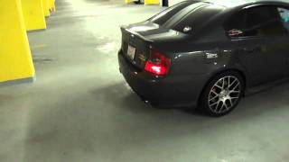 Subaru Legacy spec.B exhaust flame set off the car alarm