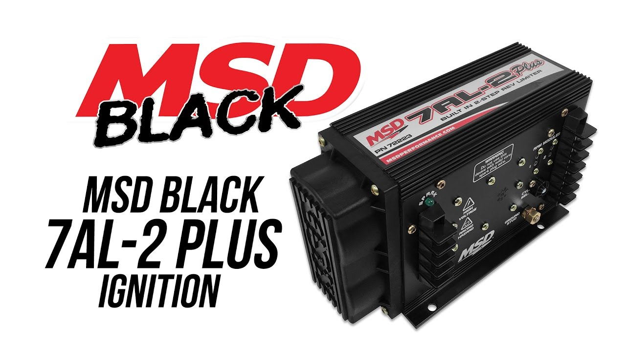 Msd Black 7al 2 Plus Pn 72223 Youtube