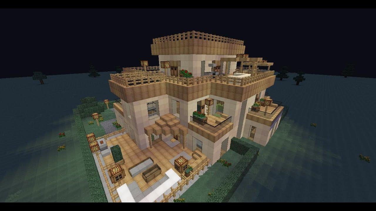 Minecraft villa mit ubahn und automatischem lagersystem for Minecraft modernes haus jannis gerzen