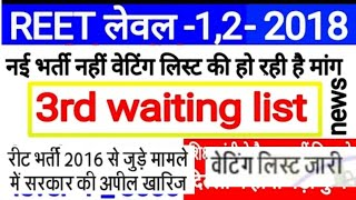 REET 2016 Waiting List reet vacancy 2019 , reet notification 2019 , reet bharti latest news 2019 , r