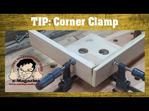 Woodworking Quick Tip #28- Homemade corner clamp for glue-ups