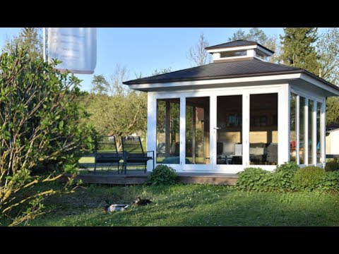 Hochwertiges Gartenhaus New Spa Hummel Blockhaus