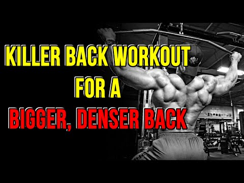 Big Back Workout - How To Build A Bigger Back - Back Workout For Mass