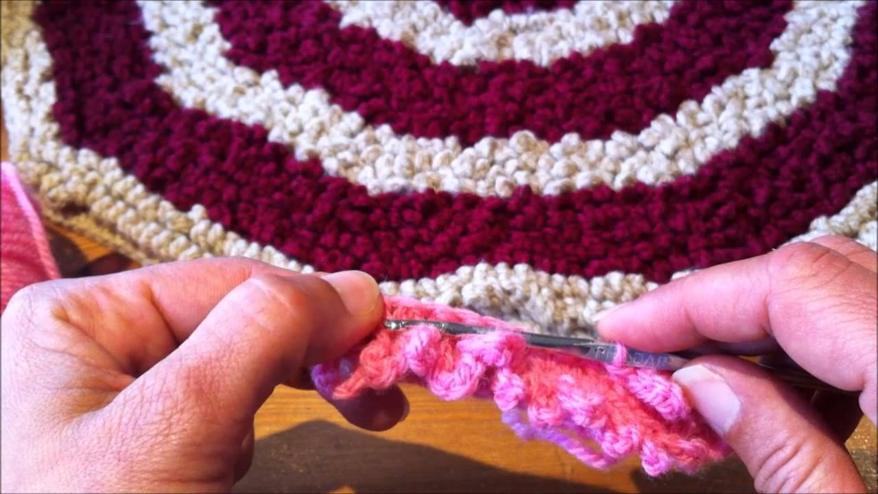 Turbo Tutoriel crochet comment faire un tapis moelleux - YouTube QW28