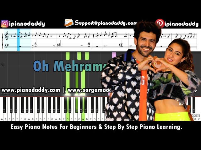 Mehrama Piano Tutorial Love Aaj Kal + Piano Notes