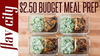 This budget meal prep recipe for weight loss is so easy to make and monster on flavor. my chicken has a low calorie mushroom...