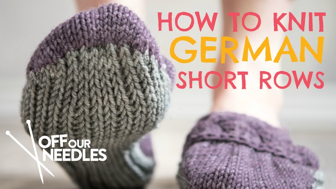 How To Knit German Short Rows Double Knit Stitch Craftsy