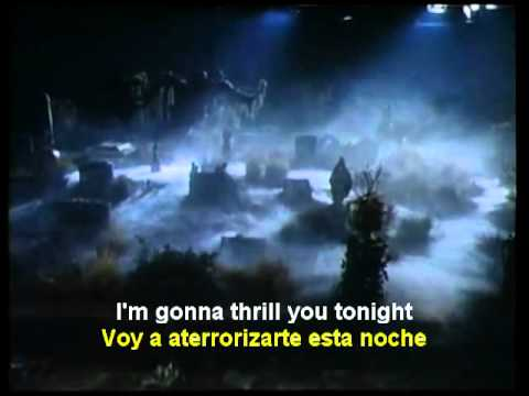 Thriller   Michael Jackson English Spanish Lyrics SUBTITLES SUBTITULADO    YouTube