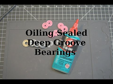Cleaning and Oiling Sealed Deep Groove Bearings (608)