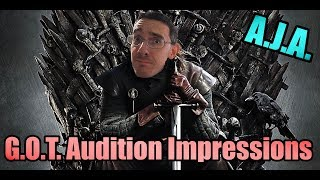 Game Of Thrones Audition Impressions By Ben Kirby AKA All Jokes Aside