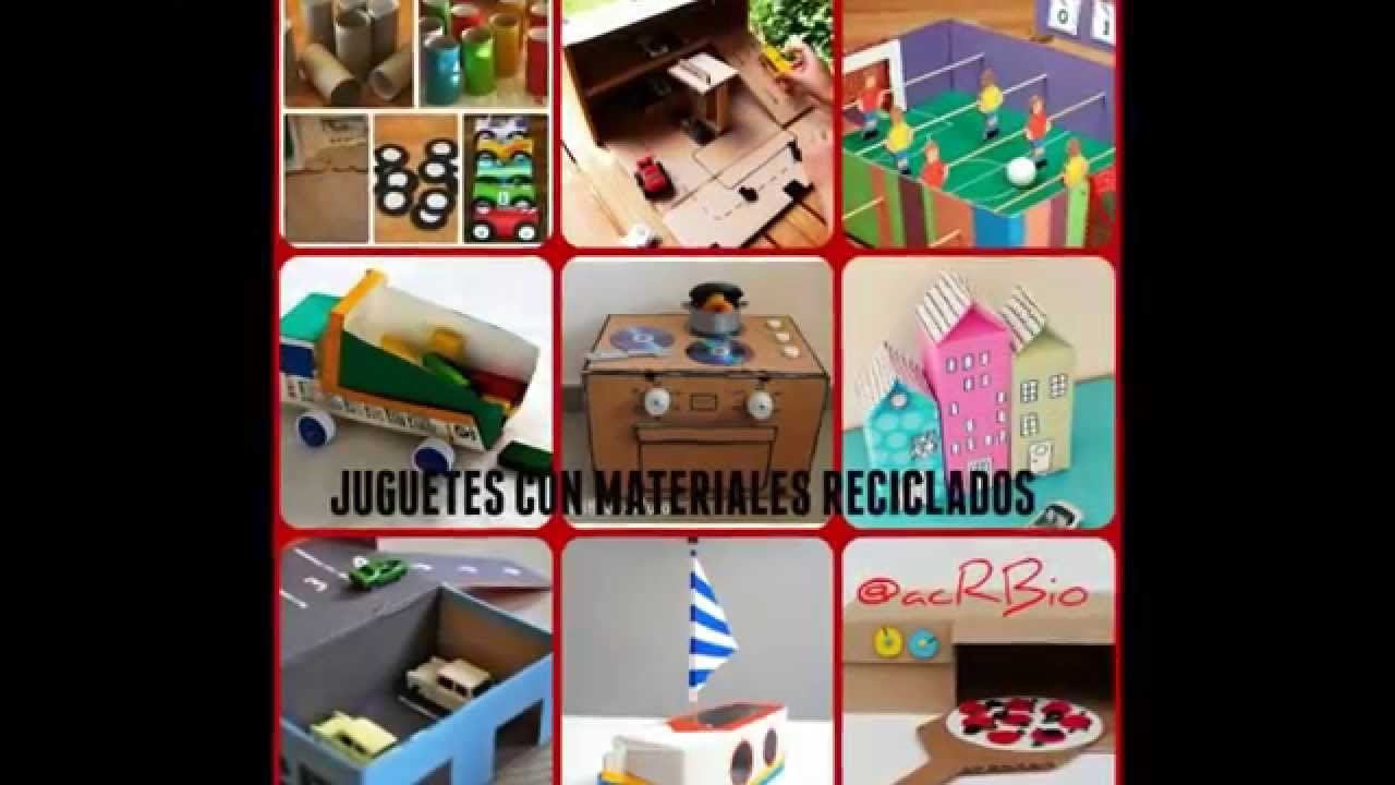 Juguetes Para Ninos Con Materiales Reciclados Youtube