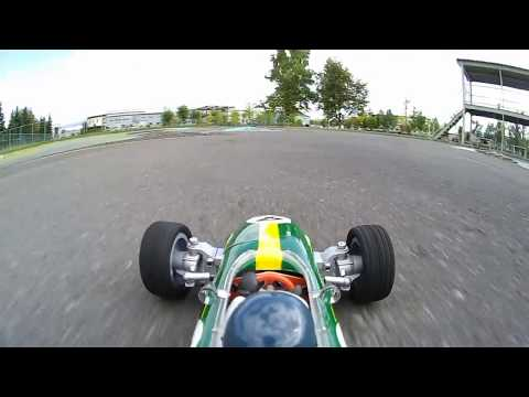 RC F1 ONBOARD CAMERA 72 LOTUS 25 Coventry Climax Jim Clark on track