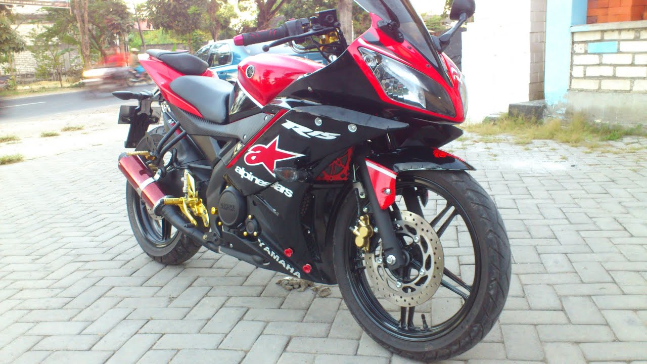 contoh modif r15 merah hitam