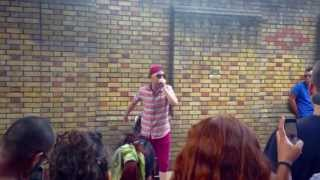 Beatboxing in Brick Lane