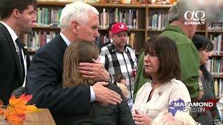 Vice presedintele Mike Pence a vizitat victimele masacrului din Texas