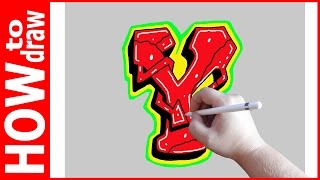 How to draw Graffiti Letters, Y № 1
