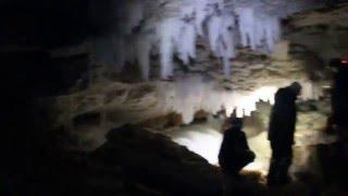 Водопад в пещере Красногорская. Голубино. Пинега(, 2016-02-08T23:25:19.000Z)