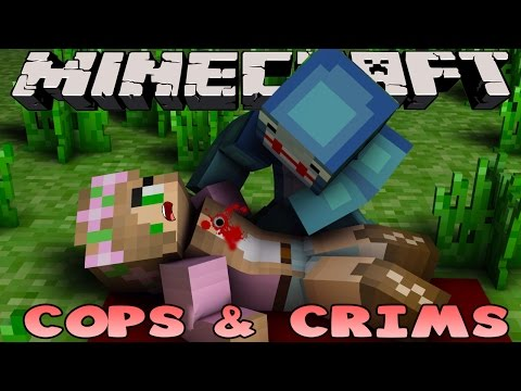 Minecraft - Cops & Crims : LITTLE KELLY GETS SHOT!