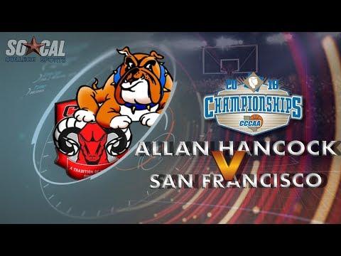 cccaa-men's-basketball-quarterfinals:-allan-hancock-vs-city-college-of-san-francisco---3/9/18---7pm