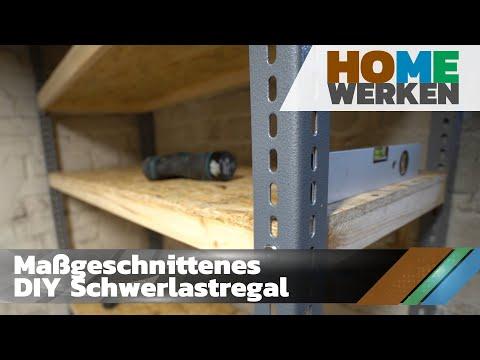 DIY Maßgeschnittenes Schwerlastregal Für Keller,Werkstatt, Garage Usw...