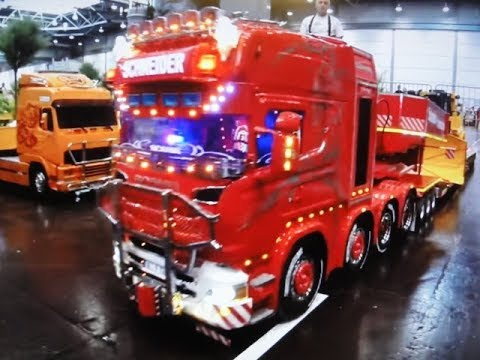 truck lkw schwertransport rc modellbau hobby spiel messe leipzig 10 2017 4k youtube. Black Bedroom Furniture Sets. Home Design Ideas