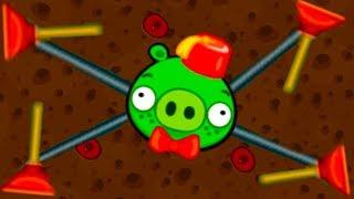 Машинки и Самолеты в Bad Piggies #24 Мультик игра для детей. Развлекательное видео с Кидом на МК