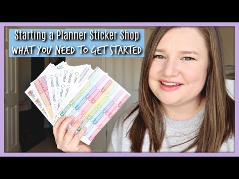 Starting a Planner Sticker Shop | The Supplies You Need To Get Started