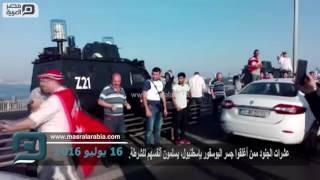 مصر العربية   عشرات الجنود ممن أغلقوا جسر البوسفور بإسطنبول، يسلمون أنفسهم للشرطة.