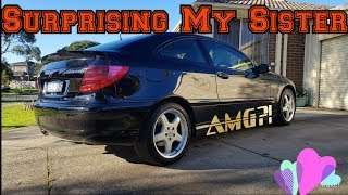 Surprising My Sister With a New Car - Mercedes Benz AMG