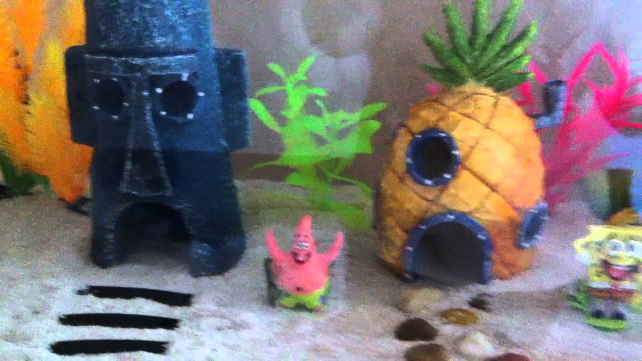 Spongebob aquarium youtube for Spongebob fish tank