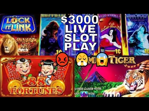 $3000 Live Slot Play At SAN MANUEL Casino ! WTF 😡😤😱 # DAY 3