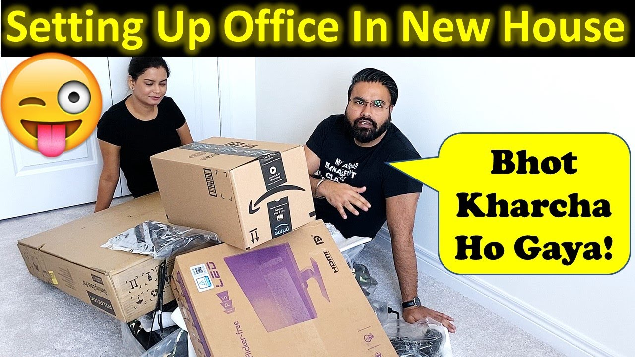 Setting Up Office In Our New House In Canada | New House Setup | Canada Couple Vlogs