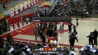 Bishop o'dowd vs berkeley high school boys basketball live 2/16/18