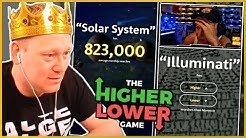 The HIGHER LOWER Game | Duell GEGEN MONTE!