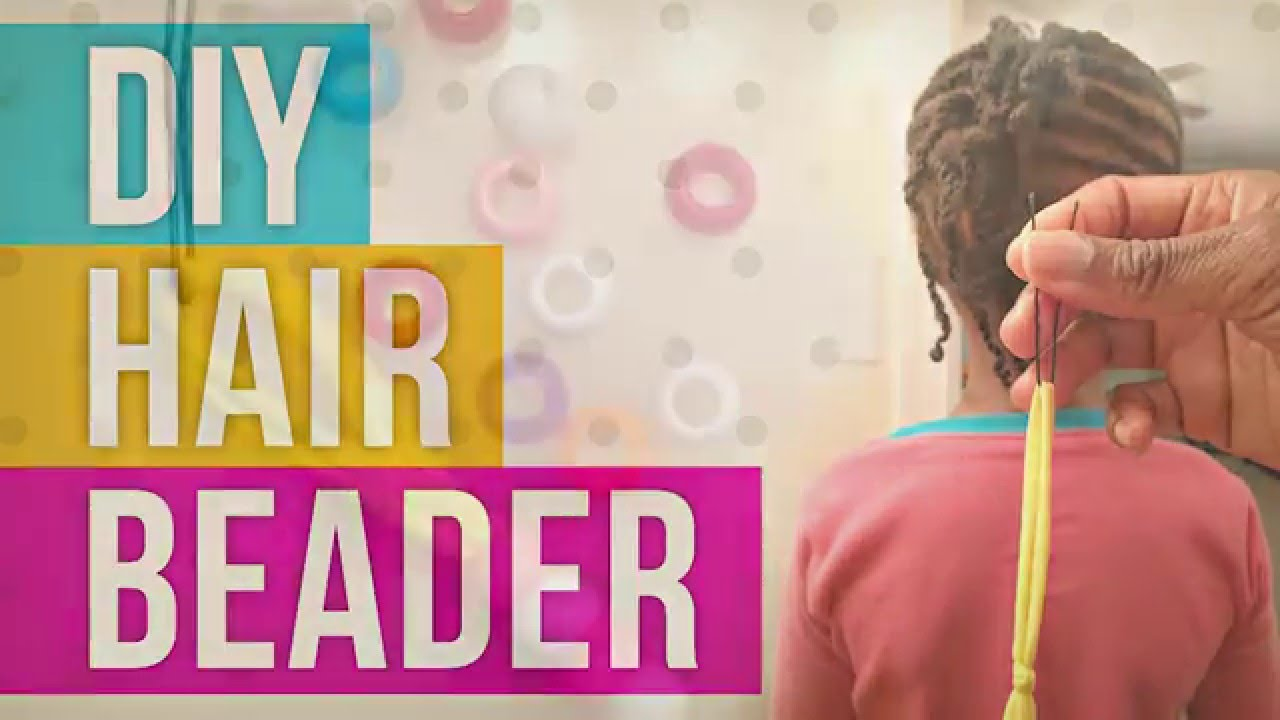 How to put on hair beads with a diy hair beader youtube ccuart Gallery