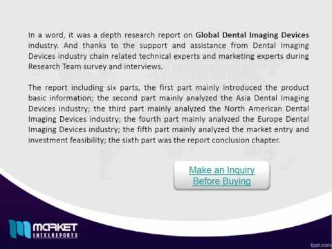 Global Dental Imaging Devices Market - Industry News, Applications and Trends!