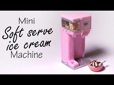 Miniature Soft Serve Ice Cream Machine - Polymer Clay Tutorial