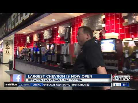 World's largest Chevron opens its doors near the Nevada-California state line
