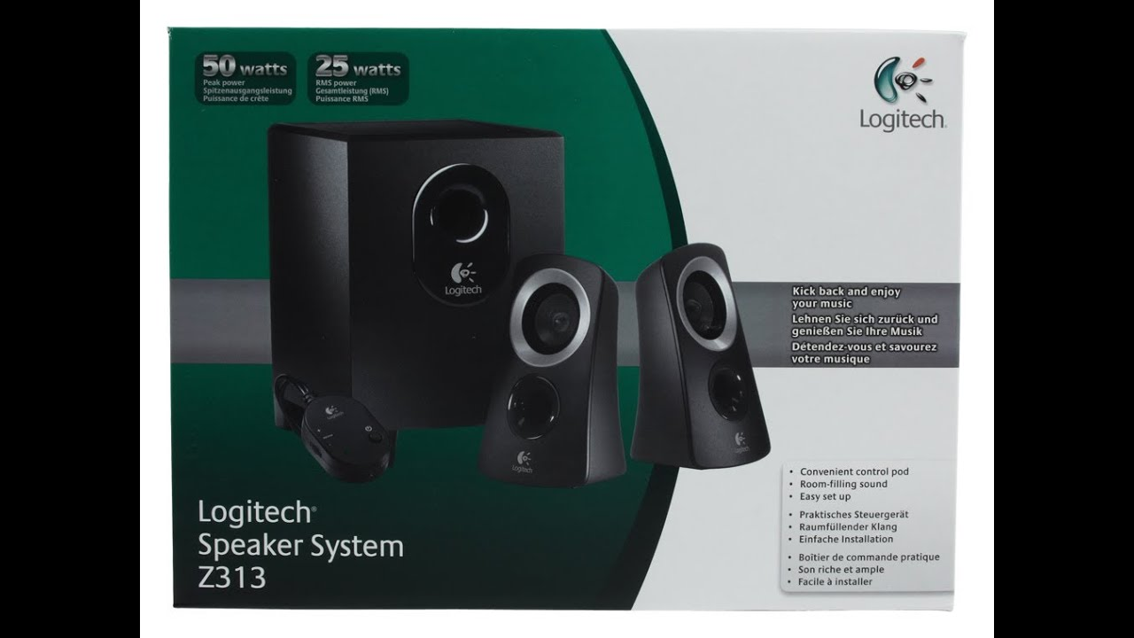 logitech z313 speaker system review youtube. Black Bedroom Furniture Sets. Home Design Ideas