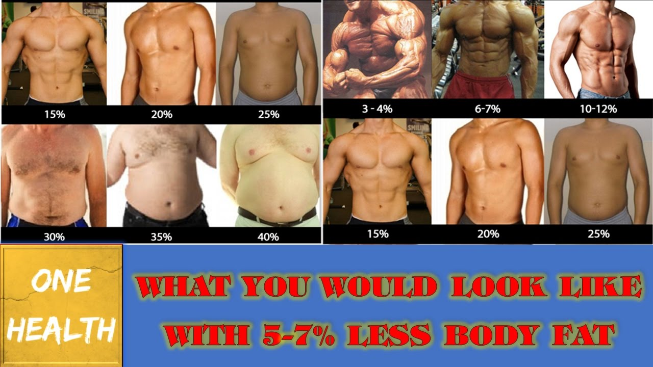 Abdominal Fat What You Would Look Like With 5 7 Less Body Fat