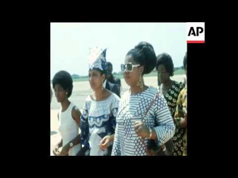 SYND 21 5 73 EL HADJI DIORI HAMANI PRESIDENT OF NIGER ARRIVES FOR TALKS
