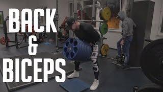 BACK & BICEPS   NEW CAMERA   Full training