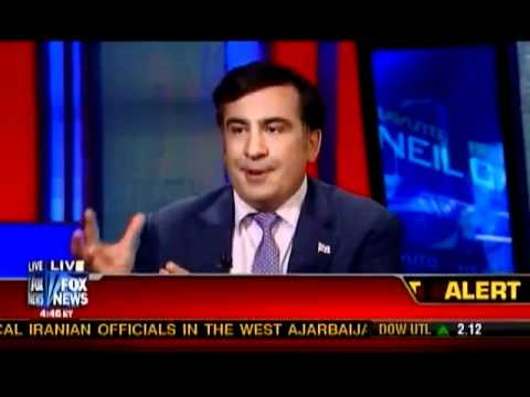 President of Georgia Mikheil Saakashvili Interviewed By Neil Cavuto