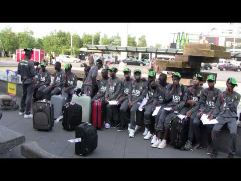 Feyenoord Fetteh Ghana Football Academy arrival at Amsterdam Schiphol Airport