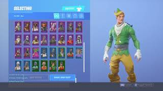 Mon OG Fortnite Locker saison 1 articles, j'ai Codename ELF