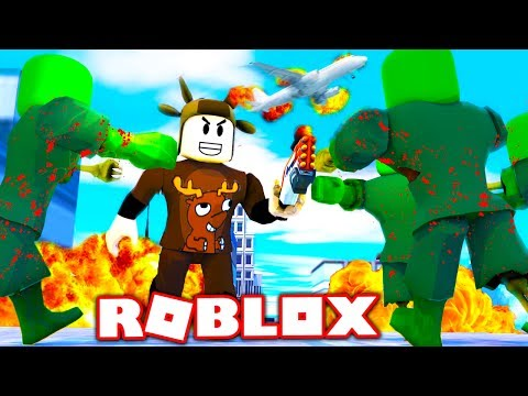 NERF WAR: ZOMBIES VS YOUTUBERS IN ROBLOX! (Roblox Nerf War)