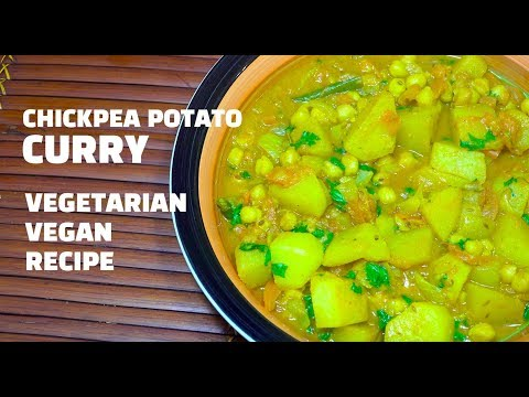 Potato Chickpea Curry - Vegan Recipes - Potato curry - Chickpea Curry - Aloo Chana - Indian Vegan